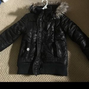 Justice puffer coat for girls